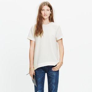 Madewell Navy Short-sleeved Blouse
